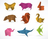 Origami animals. Vector illustration of origami animals Royalty Free Stock Images