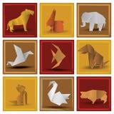 Origami animals. Vector illustration of animals symbols Stock Image