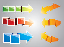 Origami arrows Stock Image