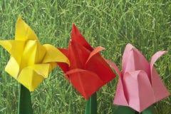 Origami Art Flowers Stock Photo