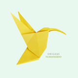 Origami art hummingbird Royalty Free Stock Images