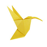 Origami art hummingbird Stock Photography