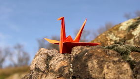 Origami, the art of origami stock footage