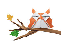 Origami art owl Stock Photography