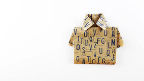 Origami av skjortan Royaltyfri Bild