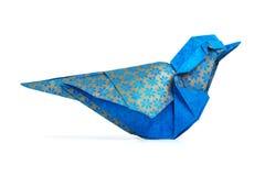 Origami błękita ptak obraz royalty free