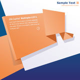 Origami background. Origami ,paper stylish abstract background whit space for text royalty free illustration
