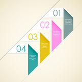 Origami background. Simple origami background with paper ribbons. EPS10 Stock Photo