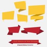 Origami-Band-Vektor-Satz Stockbilder