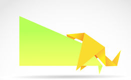Origami banner Royalty Free Stock Photography