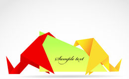 Origami banner Stock Photography