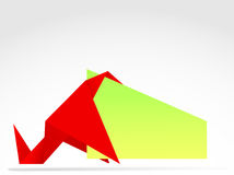 Origami banner Royalty Free Stock Image