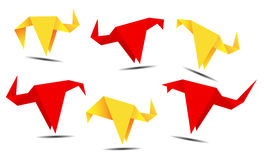 Origami banner Stock Photo