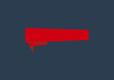 Origami banner. Red origami banner on a dark blue background royalty free illustration