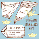 Origami banner template Royalty Free Stock Photos