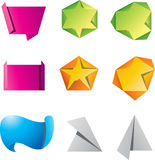 Origami banners Royalty Free Stock Photos