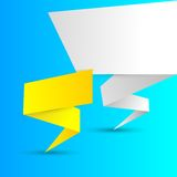 Origami banners Royalty Free Stock Image