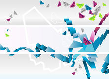 Origami banners. Stock Image