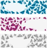 Origami banners. Royalty Free Stock Image