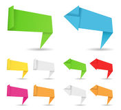 Origami banners and arrows Royalty Free Stock Photography