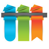 Origami banners,labels,header or tags for your advertisement Stock Photography