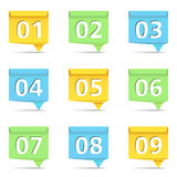 Origami banners with numbers Stock Photography