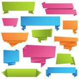 Origami Banners Set Royalty Free Stock Photo