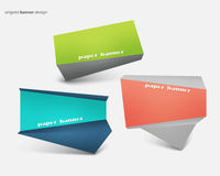Origami banners Royalty Free Stock Photography