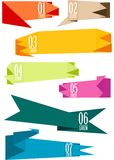 Origami banners set,  Royalty Free Stock Images