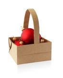 Origami basket. From recycled paper Royalty Free Stock Images