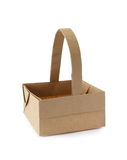Origami basket. From recycled paper Stock Images