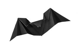 Origami bat. Origami paper halloween bat on a white background Stock Images