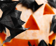 Origami bats Stock Photos