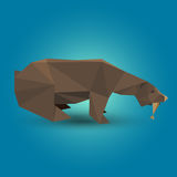 Origami bear Royalty Free Stock Image