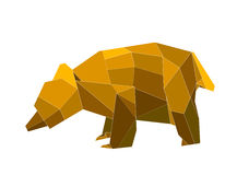 Origami bear. This is a digital drawing of an origami bear Stock Photography