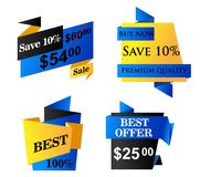 Origami bedrijfsetiketten Royalty-vrije Stock Fotografie