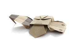 Origami bee Stock Images