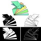 Origami_bird Иллюстрация вектора