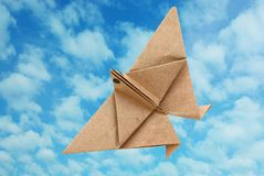 An origami bird Royalty Free Stock Photo