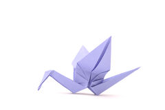 Origami bird. Child paper articles. Royalty Free Stock Images