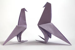 Origami bird Royalty Free Stock Images