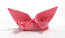 Origami bird. Hand made origami paper birds Stock Photo