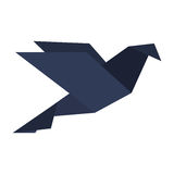 Origami bird icon Royalty Free Stock Images