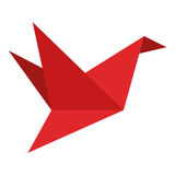 Origami bird icon. Simple flat design origami bird icon  illustration Royalty Free Stock Photography