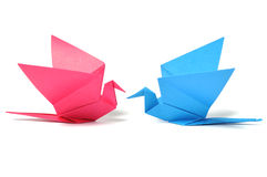 Origami bird over white Royalty Free Stock Images