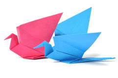 Origami bird over white Royalty Free Stock Photos