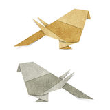 Origami Bird  Recycle Papercraft Stock Image
