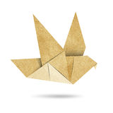 Origami Bird  Recycled Papercraft Stock Photography