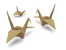 Origami bird in the sky Stock Photography