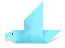 Origami bird Stock Photo